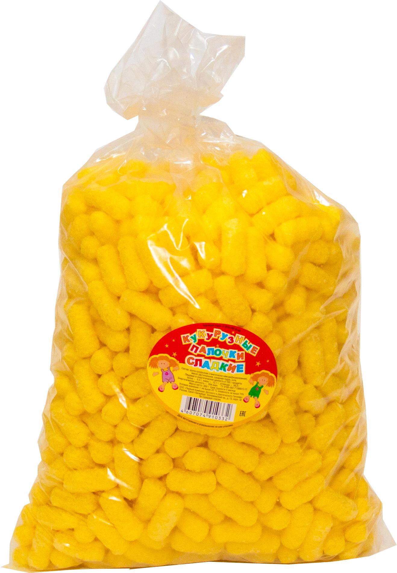 Непоседа палочки сахарные кукурузные, 300 г лопстики кукурузные палочки сладкие 130 г