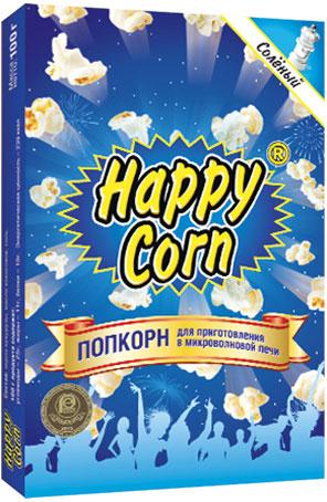 Happy Corn Попкорн для приготовления в СВЧ с солью, 100 г