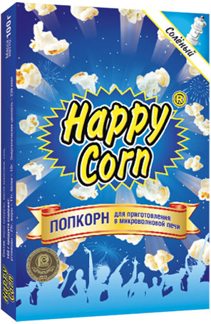 Happy Corn Попкорн для приготовления в СВЧ с солью, 100 г lole капри lsw1349 lively capris xs blue corn