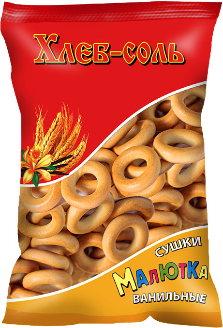 Хлеб-Соль Сушки малютка ванильные, 200 г хлеб соль сушки малютка с маком 200 г