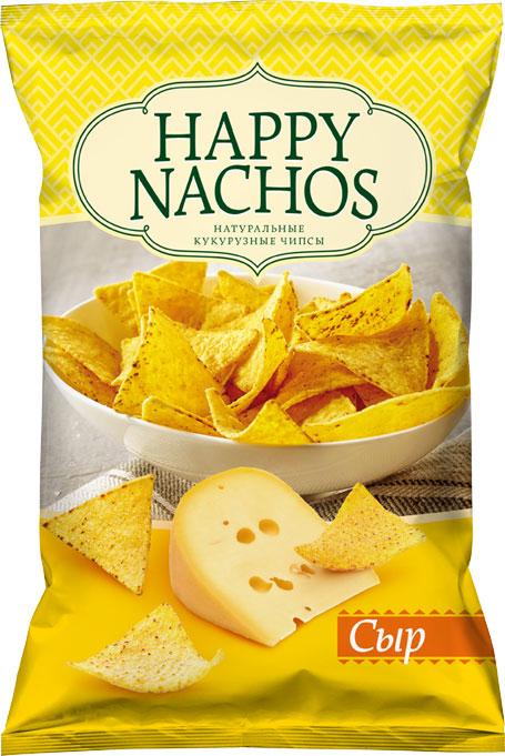 Happy Nachos Чипсы кукурузные со вкусом сыра, 75 г