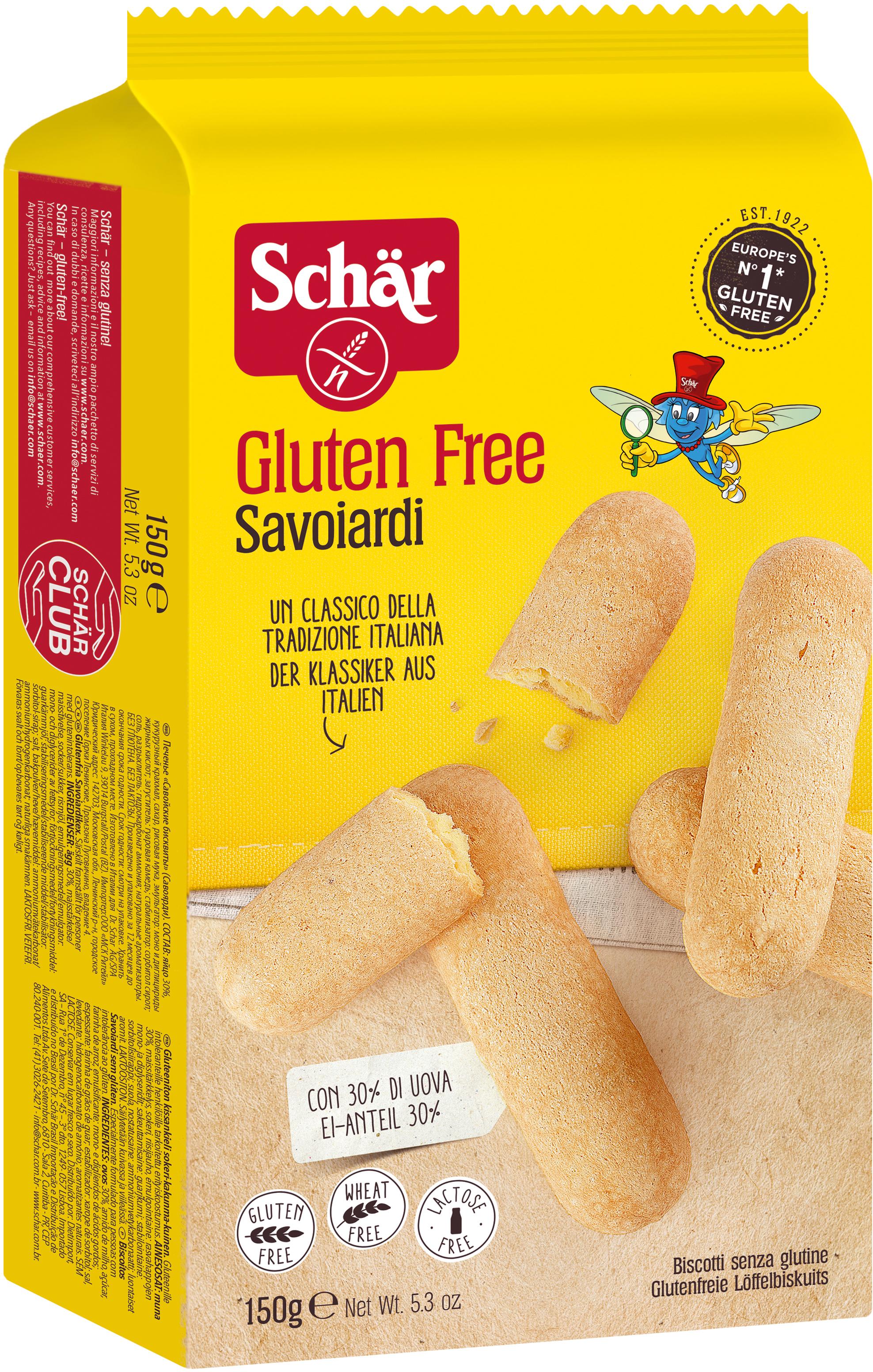 Dr. Schar Savoiardi Печенье бисквитное, 150 г dr schar cracker крекеры 210 г