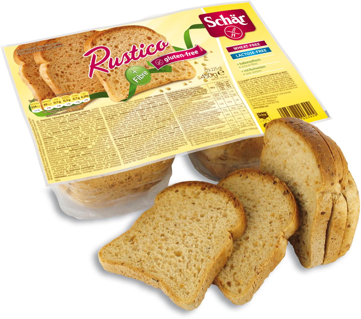 Dr. Schar Rustico Хлеб многозерновой, 450 г хлебная смесь чесночный хлеб