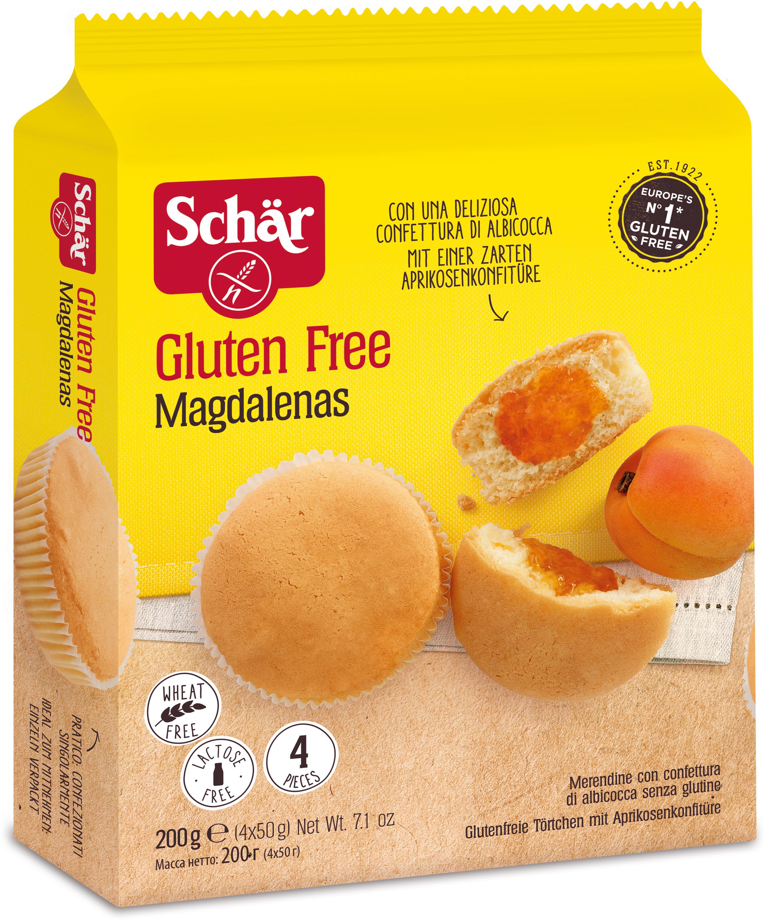 Dr. Schar Magdalenas Кексы с абрикосовым джемом, 4 шт по 50 г dr schar pan carre хлеб белый 400 г