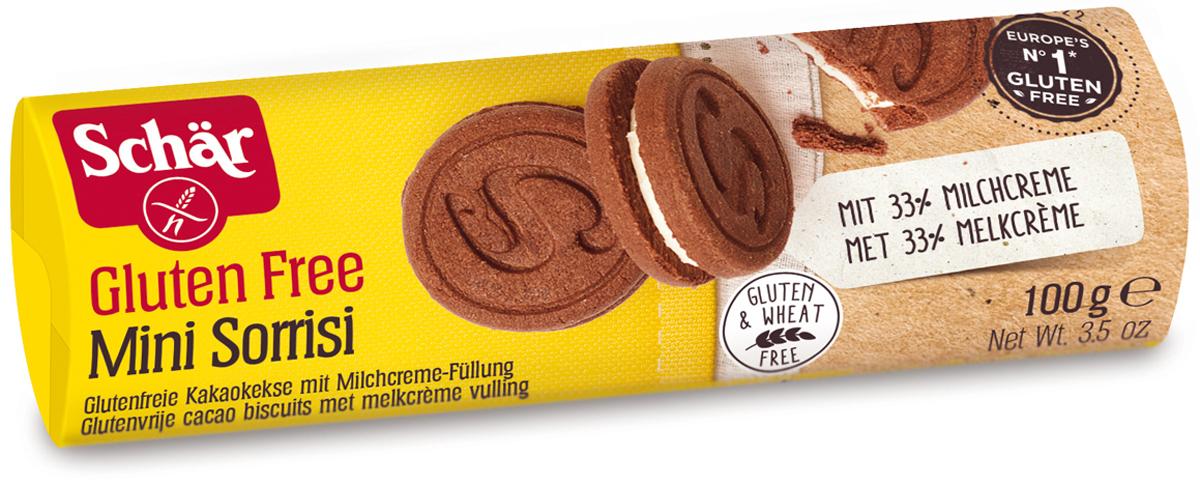 Dr. Schar Minisorrisi Печенье-сэндвич шоколадное с молочной начинкой, 100 г жесткий диск hitachi hts721010a9e630
