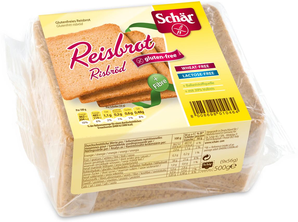 Dr. Schar Reisbrot Хлеб рисовый, 500 г фитодар хлебная смесь хлеб фитнес 500 г