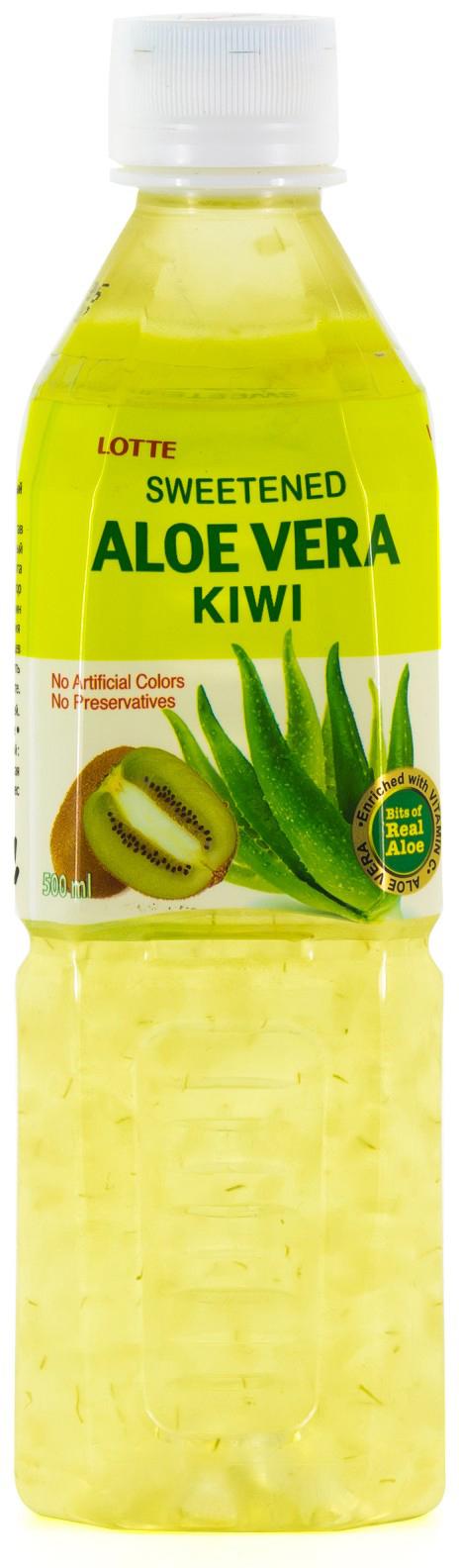 Lotte Aloe Vera напиток безалкогольный негазированный с мякотью алоэ со вкусом Киви, 500 мл lotte aloe vera напиток безалкогольный негазированный с мякотью алоэ со вкусом граната 240 мл
