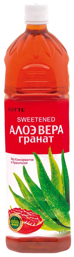 Lotte Aloe Vera напиток безалкогольный негазированный с мякотью алоэ со вкусом Граната, 1,5 л lotte aloe vera напиток безалкогольный негазированный с мякотью алоэ со вкусом вишни 240 мл