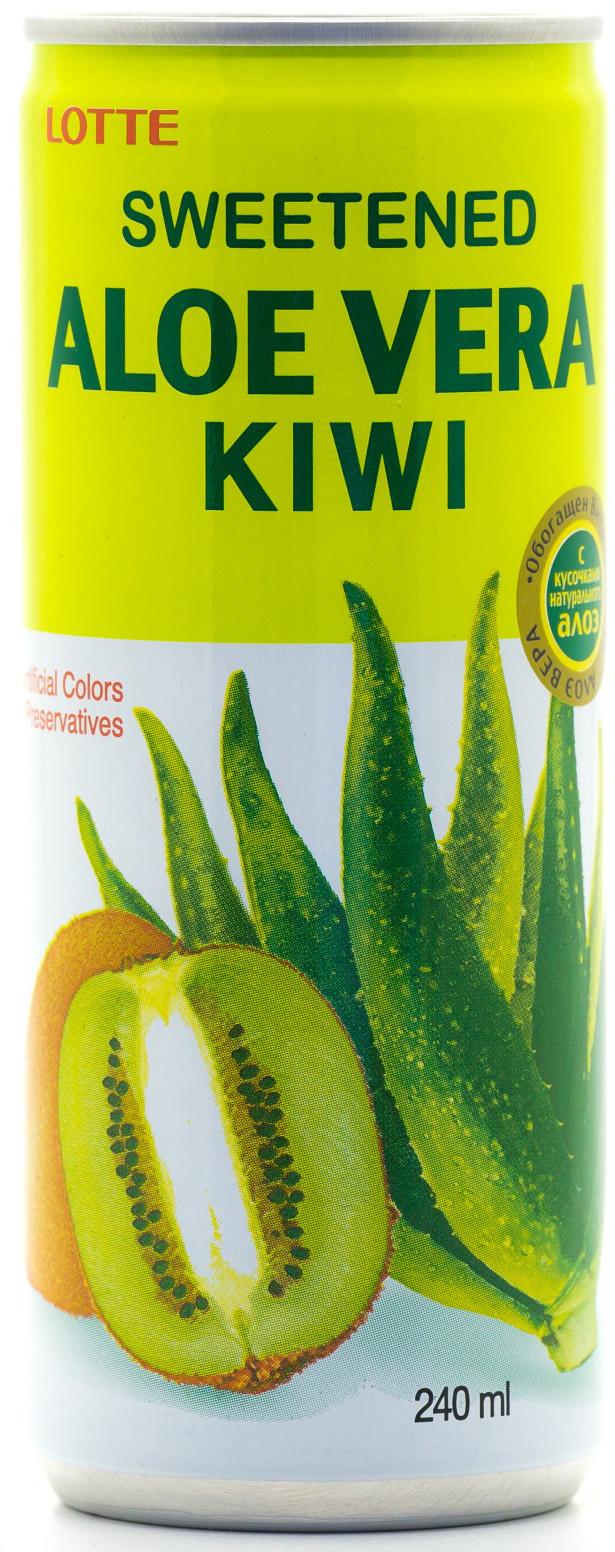 Lotte Aloe Vera напиток безалкогольный негазированный с мякотью алоэ со вкусом Киви, 240 мл сумка printio life style