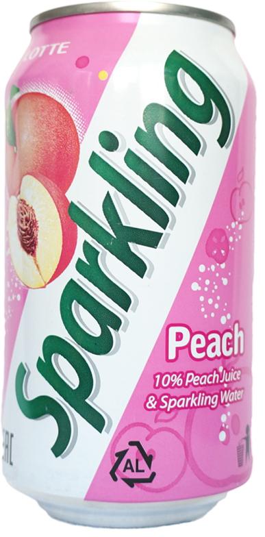 Lotte Sparkling напиток газированный безалкогольный со вкусом Персика, 355 мл ударница мармелад со вкусом персика 325 г