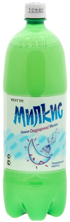 Lotte Milkis напиток газированный безалкогольный Оригинал, 1,5 л uludag frutti extra дыня напиток слабогазированный 0 25 л