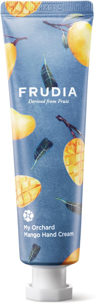 Frudia Крем для рук c манго, 30 гPNV(3)-SIBПитательный крем с высоким содержанием экстрактов фруктов интенсивно увлажняет и восстанавливает сухую и поврежденную кожу рук. Аденозин в составе оказывает омолаживающий эффект, а комплекс масел заметно смягчает. Крем обладает ярким экзотическим ароматом манго.