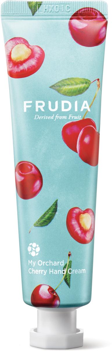 Frudia Крем для рук c вишней, 30 г03558Питательный крем с высоким содержанием экстрактов фруктов интенсивно увлажняет и восстанавливает сухую и поврежденную кожу рук. Аденозин в составе оказывает омолаживающий эффект, а комплекс масел заметно смягчает. Крем обладает сладким ароматом вишневого мороженого.