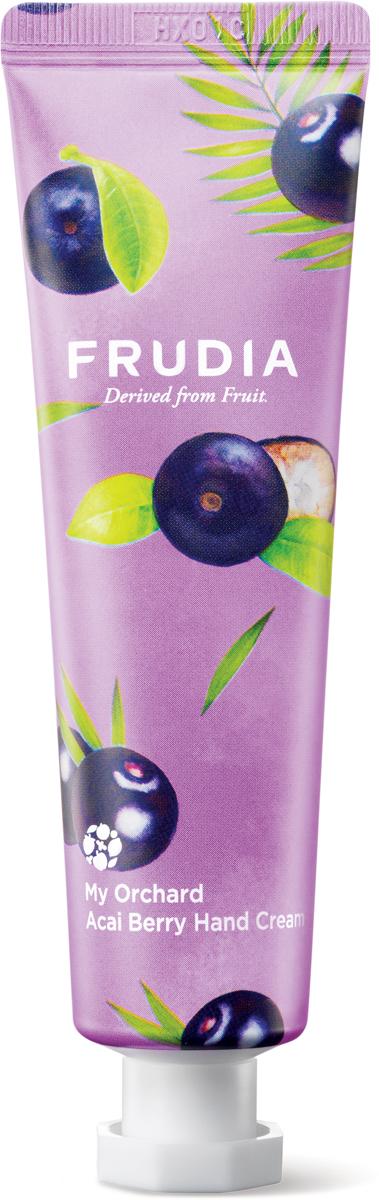 Frudia Крем для рук c ягодами асаи, 30 г03560Питательный крем с высоким содержанием экстрактов фруктов интенсивно увлажняет и восстанавливает сухую и поврежденную кожу рук. Аденозин в составе оказывает омолаживающий эффект, а комплекс масел заметно смягчает. Крем обладает приятным и нежным ароматом ягод асаи, напоминая шоколадно-фруктовый десерт.