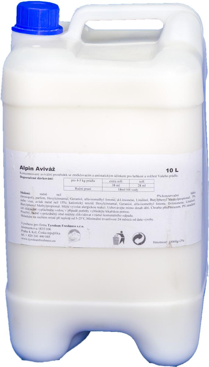 Жидкое средство для стирки Alpin Авиваз, 10 лАP10000PAS6ALPIN AVIVAZ-бальзам кондиционер для стирки –концентрированное средство для быстрого и более качественного глажения бельяс антистатическим свойством и смягчающим эффектом.