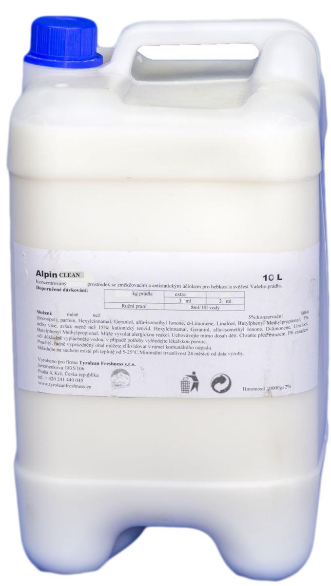 Жидкое чистящее средство (пятновыводитель) Alpin Клин, 10 лAP10000PCNУниверсальное чистящее средство пятновыводитель. Универсальный пятновыводитель на жидкой основе. Полностью готов к использованию, эффективен при любых температурных режимах.