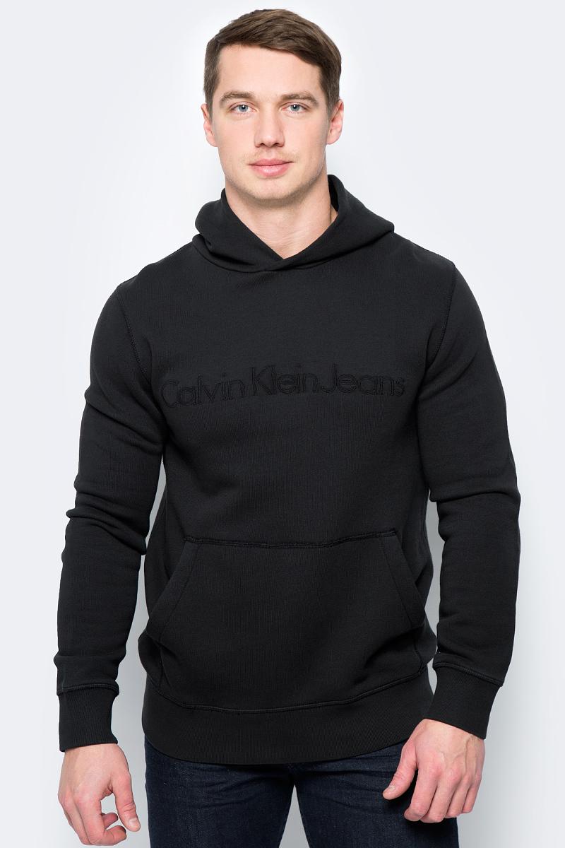 Купить Худи мужское Calvin Klein Jeans, цвет: черный. J30J306407_0990. Размер L (48/50)