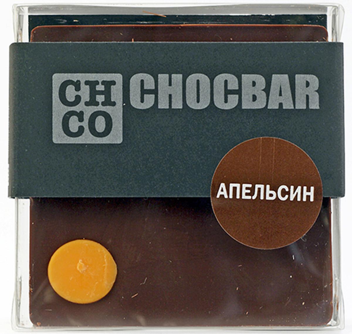 Chco Chocbar Dark Апельсин темный шоколад, 60 г ростагроэкспорт желе апельсин 125 г