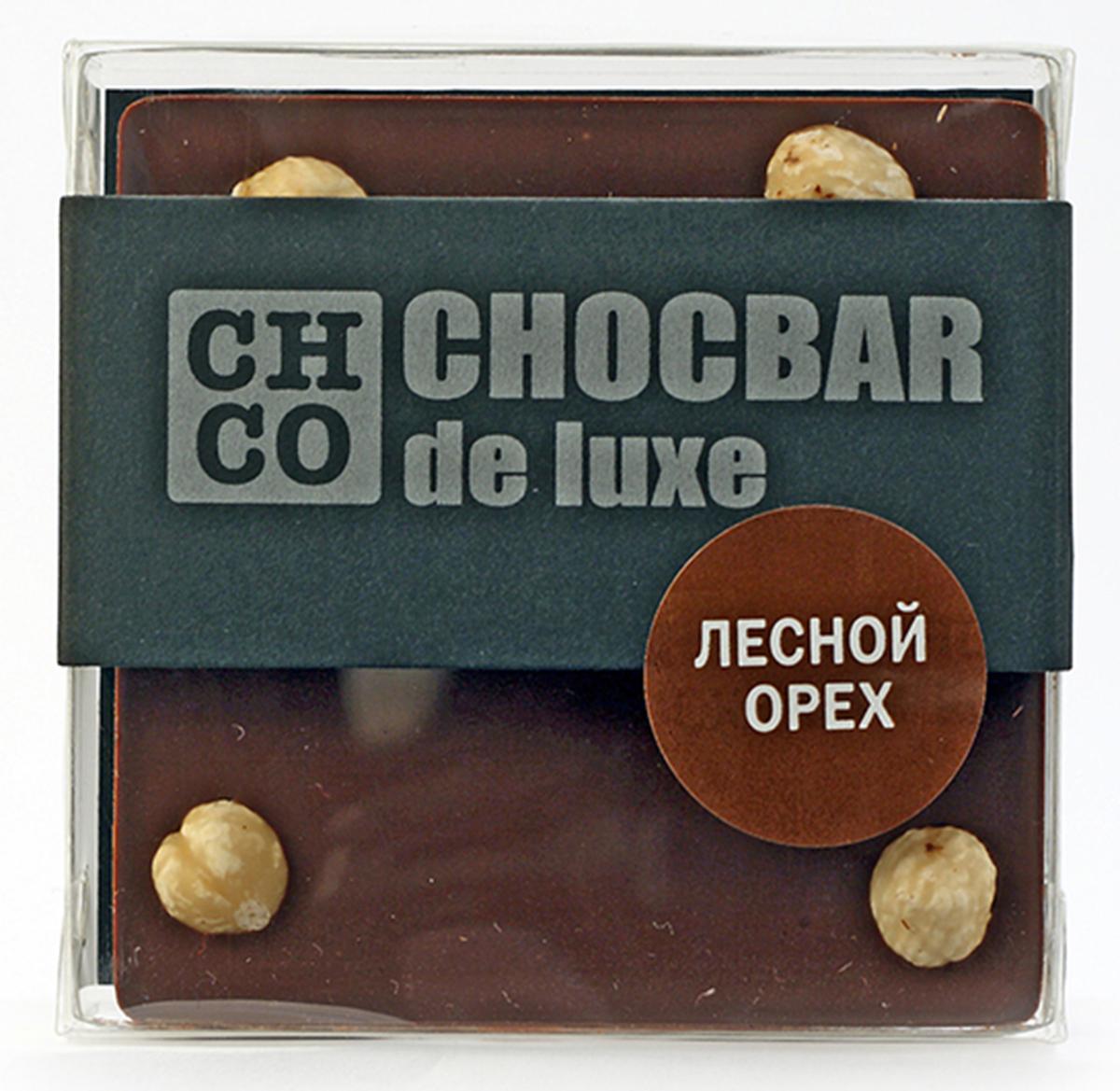 Chco Chocbar De Luxe Dark Лесной орех темный шоколад, 85 г ritter sport цельный лесной орех шоколад темный с цельным обжаренным орехом лещины 100 г