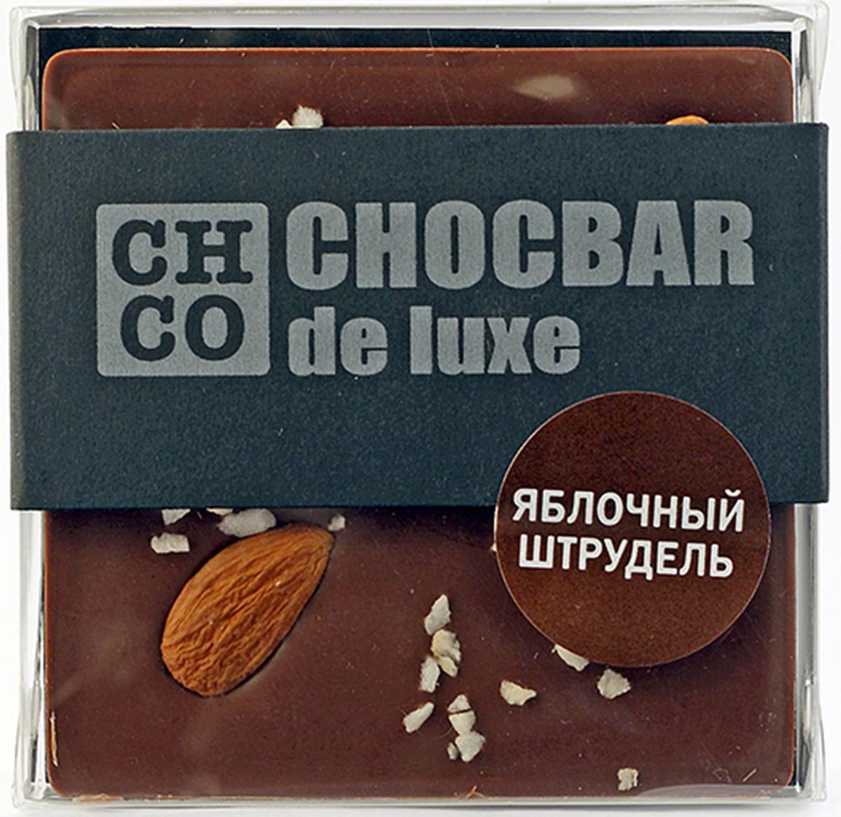 Chco Chocbar De Luxe Milk Яблочный штрудель молочный шоколад, 85 г тетрадь на скрепке printio эйфелева башня