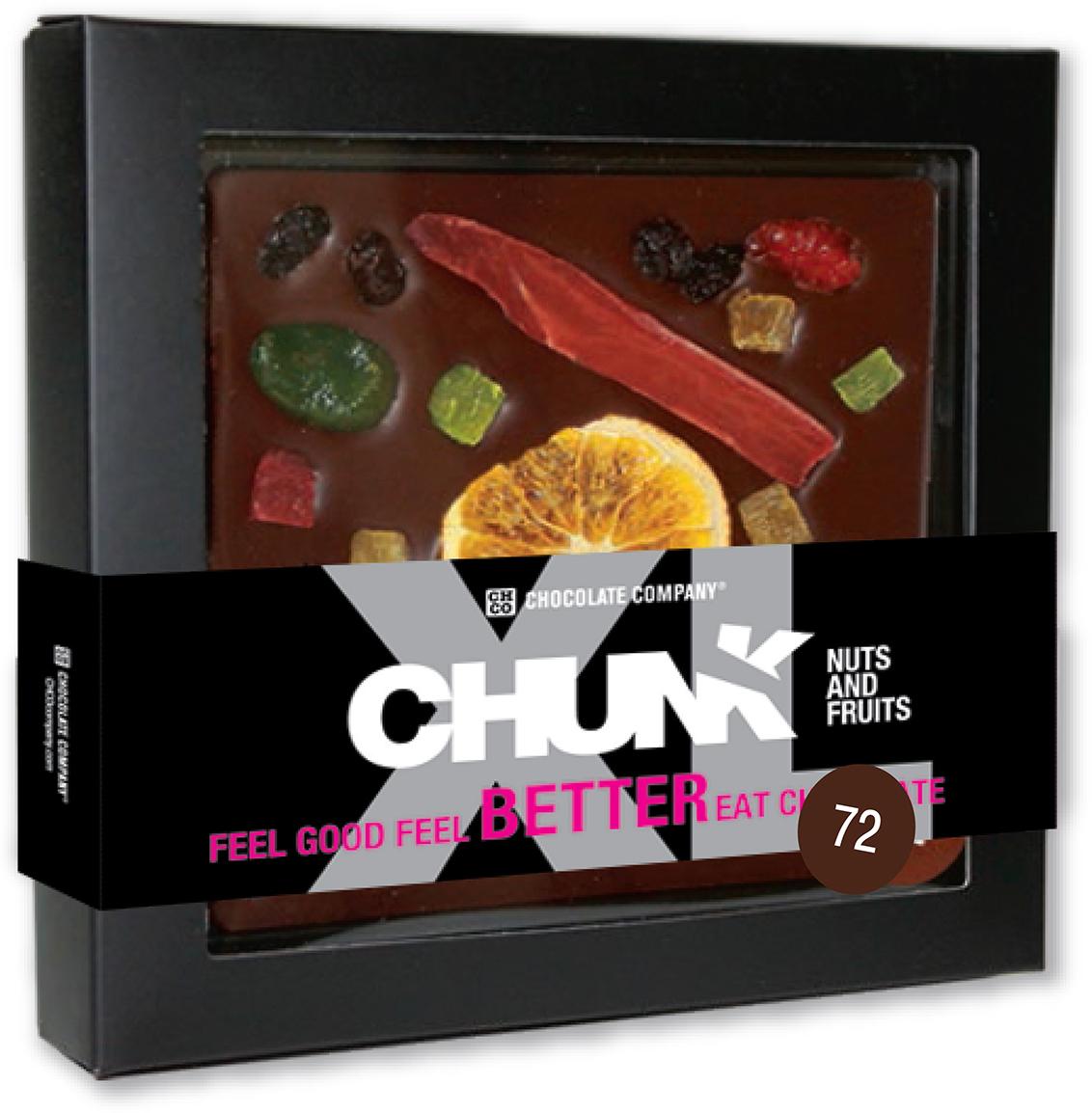 Chco Chocbar XL De Luxe Dark 72% фрукты темный шоколад, 300 г luehders мармелад экзотические фрукты 80 г
