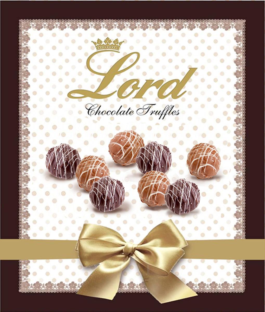 Lord Трюфели шоколадные конфеты с начинкой, 160 г коркунов ассорти конфеты темный и молочный шоколад 110 г