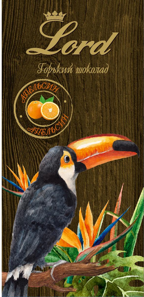 Lord Цветы и птицы горький шоколад со вкусом апельсина, 100 г чудесинка со вкусом шоколада