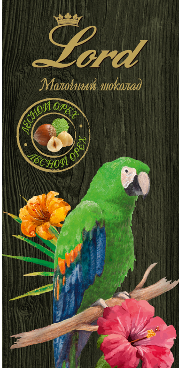 Lord Цветы и птицы лесной орех молочный шоколад, 100 г протеин biotech изо вей зиро лактоз фри лесной орех 500 г