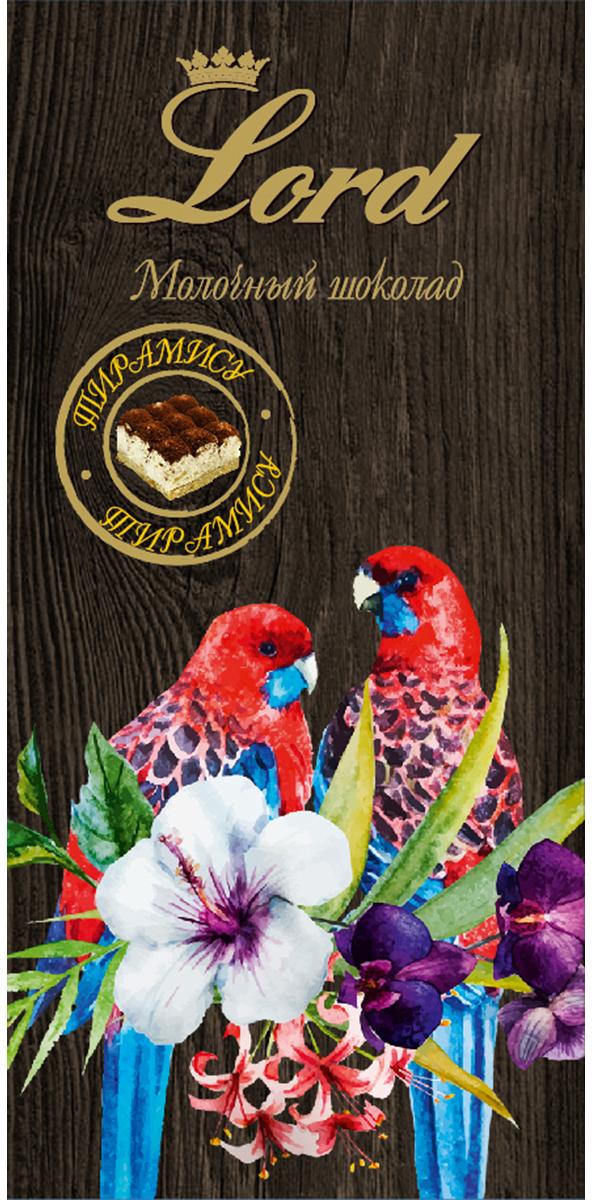 Lord Цветы и птицы тирамису молочный шоколад, 100 г gildo rachelli тирамису 500 г