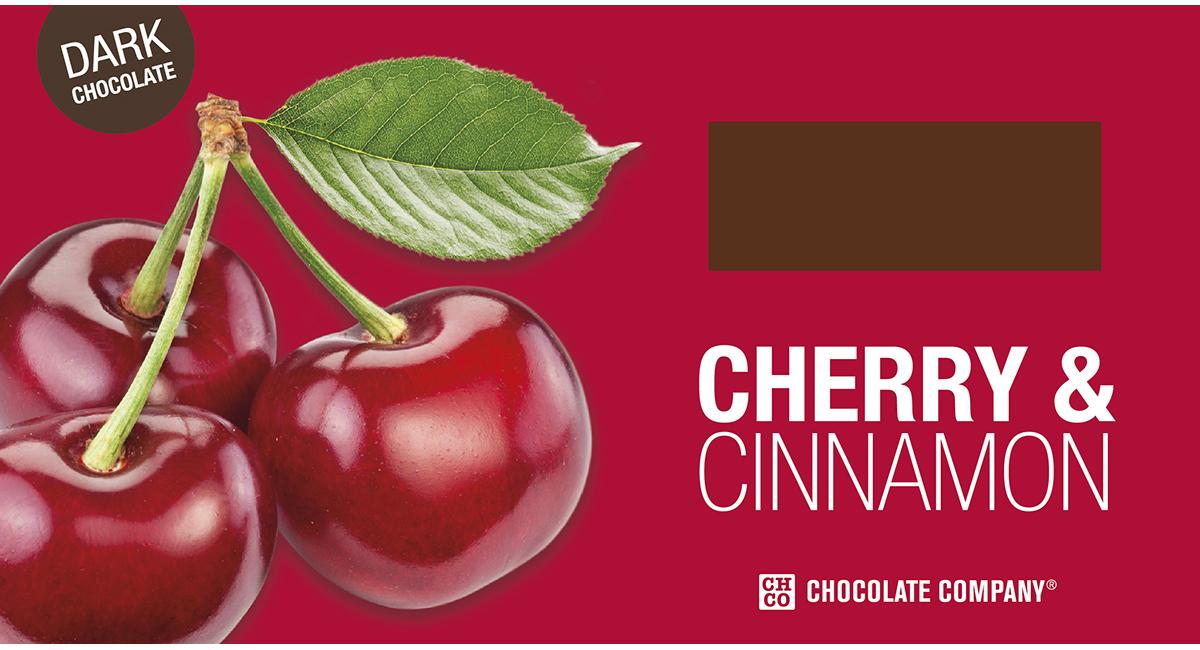 Chco Два вкуса вишня - корица горький шоколад, 100 г chco chocbar xl de luxe три сердца шоколад 300 г