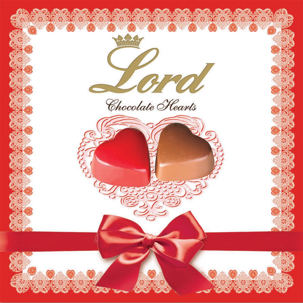 Lord Сердечки шоколадные конфеты с начинкой, 150 г деткино шоколадные фигурки из молочного шоколада 135 г