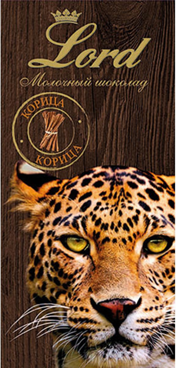 Lord Животные корица молочный шоколад, 100 г4627073373310Шоколадная плитка Корица (Животные) Lord - это плитка молочного шоколада с пряным восточным вкусом корицы, в красивой подарочной упаковке, с неизменно высоким качеством и только натуральными ингредиентами!