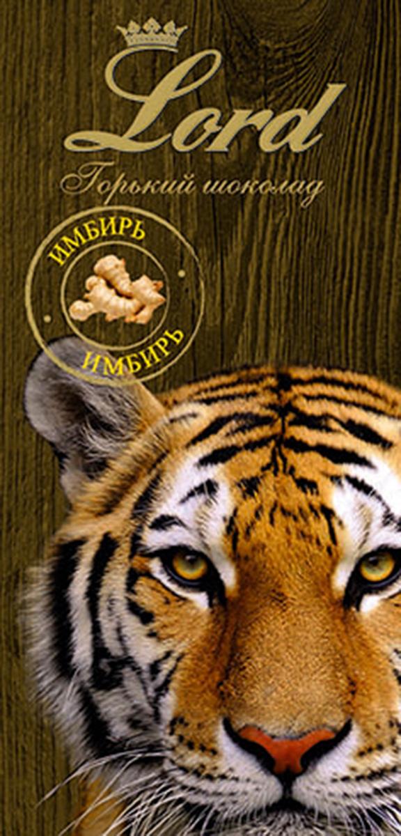 Lord Животные имбирь горький шоколад, 100 г сибирская клетчатка mу body slim фитококтейль имбирь и корица 170 г