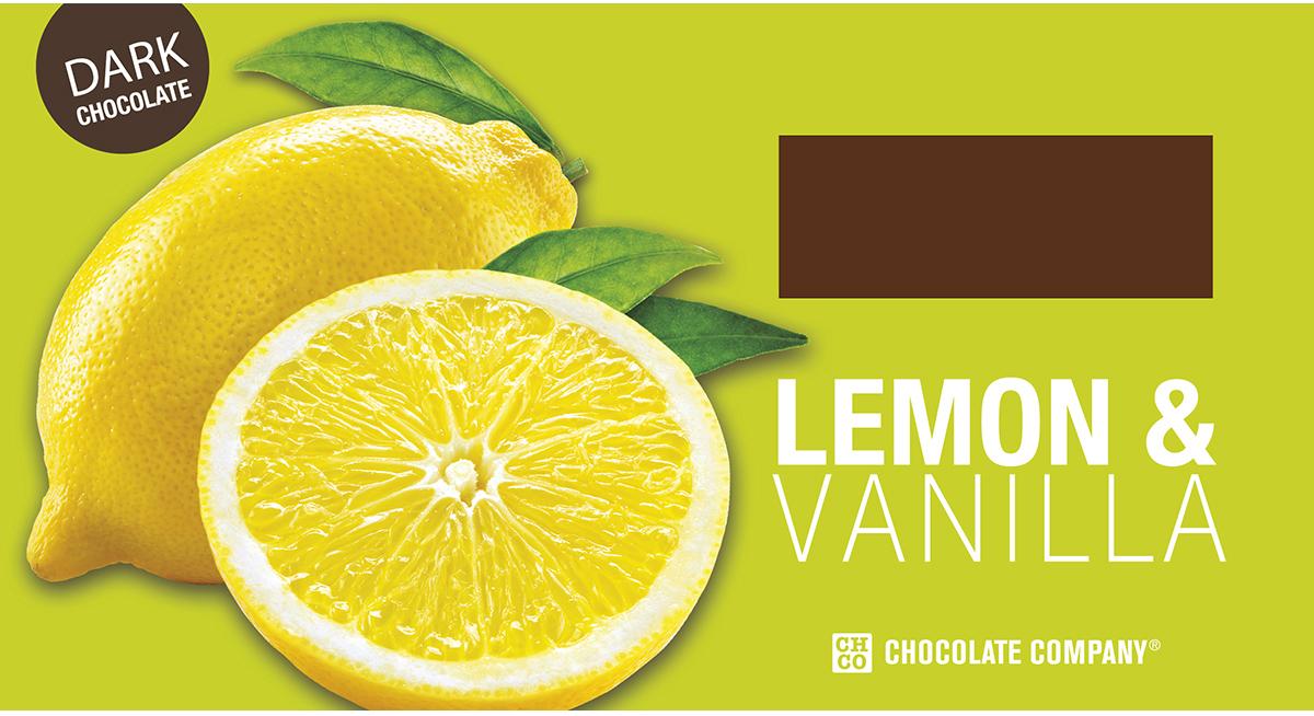 Chco Два вкуса лимон - ваниль горький шоколад, 100 г4627073373884Шоколадная плитка Лимон-ваниль из серии Два Вкуса Chco - это плитка вкусного темного шоколада с изящным вкусом лимона и ванили, с неизменно высоким качеством и только натуральными ингредиентами!