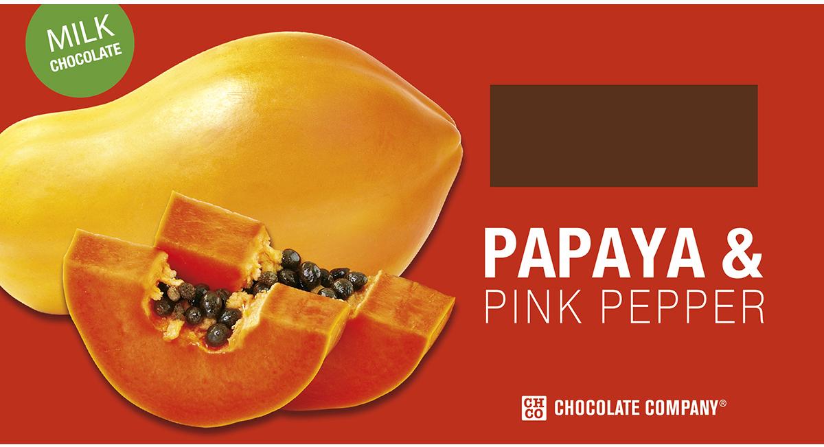 Chco Два вкуса папайя - розовый перец молочный шоколад, 100 г chco chocbar dark острый чили темный шоколад 60 г
