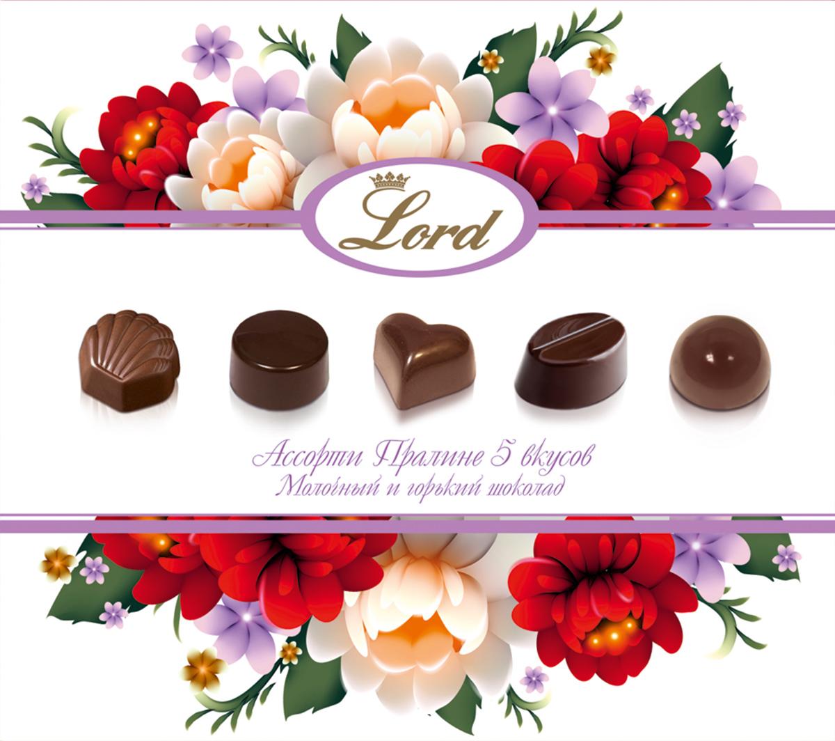 Lord Цветы шоколадные конфеты с начинкой, 180 г marchand пралине шоколадные конфеты 200 г 877