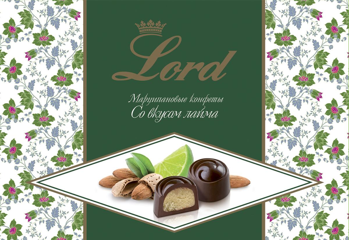Lord Миндальный марципан со вкусом лайма шоколадные конфеты с начинкой, 155 г полина ч готовим просто и со вкусом cooking is simple and tasteful