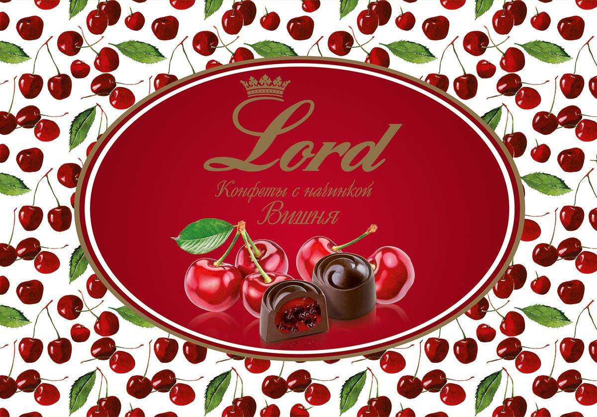 Lord Вишня шоколадные конфеты с начинкой, 155 г деткино шоколадные фигурки из молочного шоколада 135 г
