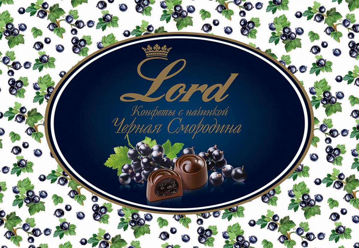 Lord Черная смородина шоколадные конфеты с начинкой, 155 г пудовъ кексики шоколадные 250 г