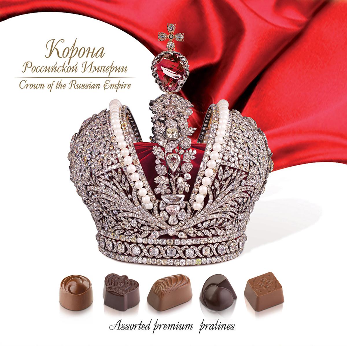 Lord Корона Российской Империи шоколадные конфеты с начинкой, 180 г