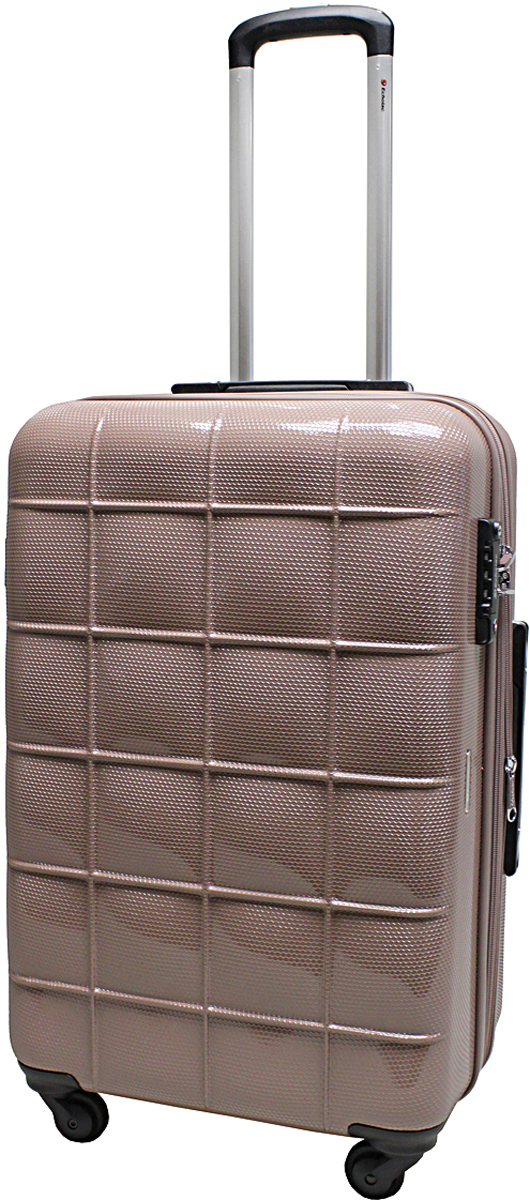 Чемодан-тележка Echolac 005, на колесах, цвет: темная пудра, 77 л. 005-24PC чемодан большой l best bags gran canale 4534 77 б 45349977