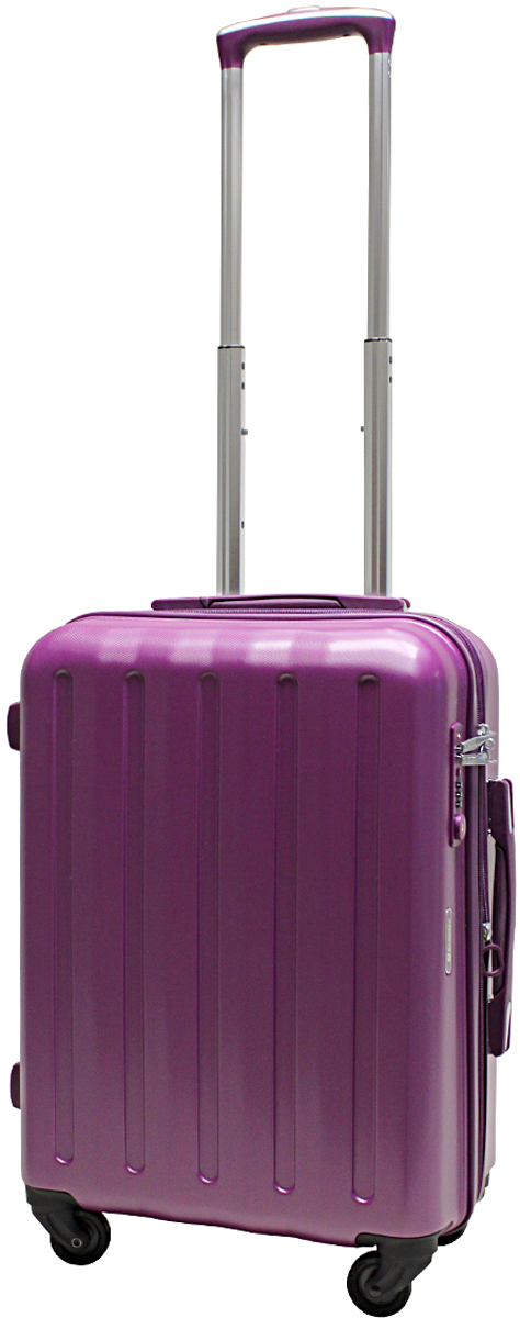 Чемодан-тележка Echolac 008, на колесах, цвет: фиолетовый, 45 л. 008-20PC чемодан samsonite чемодан 55 см lite biz