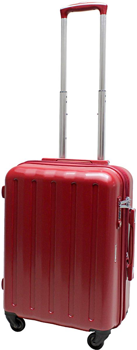 Чемодан-тележка Echolac 008, на колесах, цвет: красный, 45 л. 008-20PC008-20PCЧемодан Echolac, коллекция LIGHT. Компактный и легкий. Служит незаменимым спутником для деловых поездок и кратковременных путешествий.Произведен из поликарбоната, что является гарантом прочности, надёжности и долговечности.Четыре колеса японского производителя HINOMOTO, вращающиеся на 360 градусов, придают маневренность и распределяют нагрузку равномерно. А также избавят вашу руку от излишней нагрузки. Функциональный: имеет вместительное отделение с прижимными ремнями и перегородкой с дополнительными карманами. Надежный: встроенный кодовый замок с функцией TSA. Вы закрываете замок на кодовую комбинацию, а при необходимости досмотра таможенные службы смогут открыть его универсальным ключом, не сбивая ваш код и не повреждая чемодан. Ключ в комплект чемодана не входит.Вес: 3 кг; объем: 45 л.Размер: 55 х 39 х 23 см.Гарантия - 5 лет.Как выбрать чемодан. Статья OZON Гид