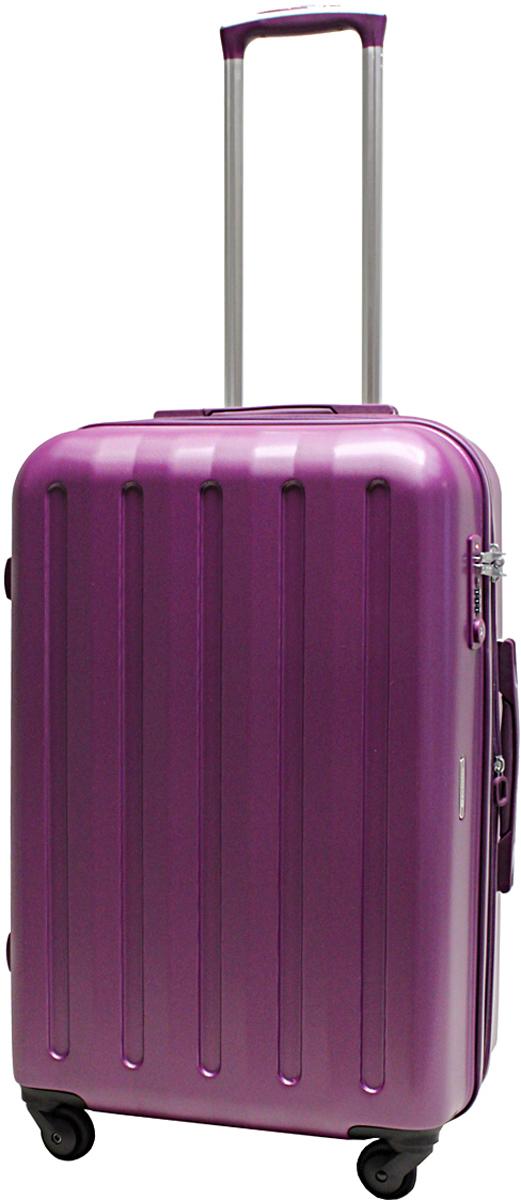 Чемодан-тележка Echolac 008, на колесах, цвет: фиолетовый, 68 л. 008-24PC