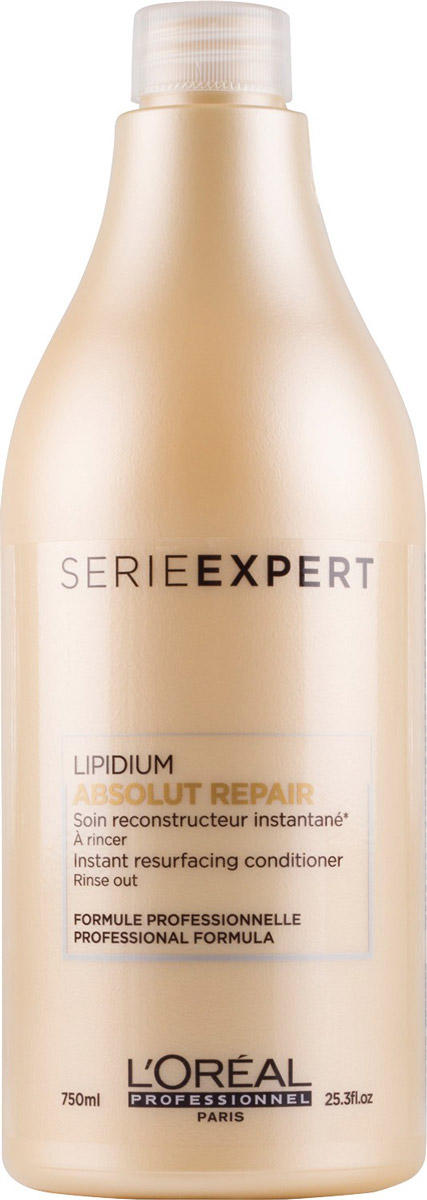 LOreal Professionnel Смываемый уход, восстанавливающий структуру волос на клеточном уровне Expert Absolut Repair Lipidium - 750 млE0641006LOreal Professionnel Expert Absolut Repair Lipidium - Смываемый уход, восстанавливающий структуру волос на клеточном уровне.