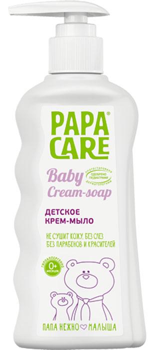 Papa Care Детское крем-мыло с пантенолом, маслом оливы и экстрактом ромашки 150 мл молочко papa care детское увлажняющее с помпой 150 мл