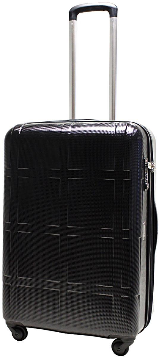 Чемодан-тележка  Echolac  066, на колесах, цвет: черный, 67 л. 066-24PC - Чемоданы и аксессуары