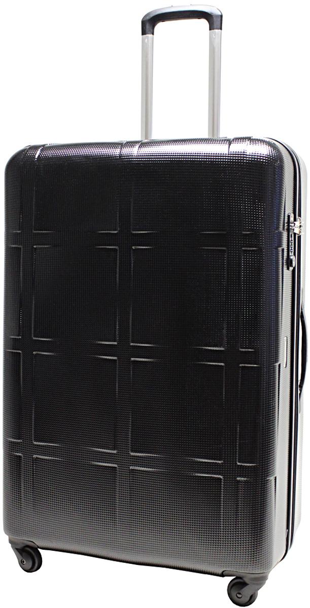 Чемодан-тележка  Echolac  066, на колесах, цвет: черный, 100 л. 066-28PC - Чемоданы и аксессуары