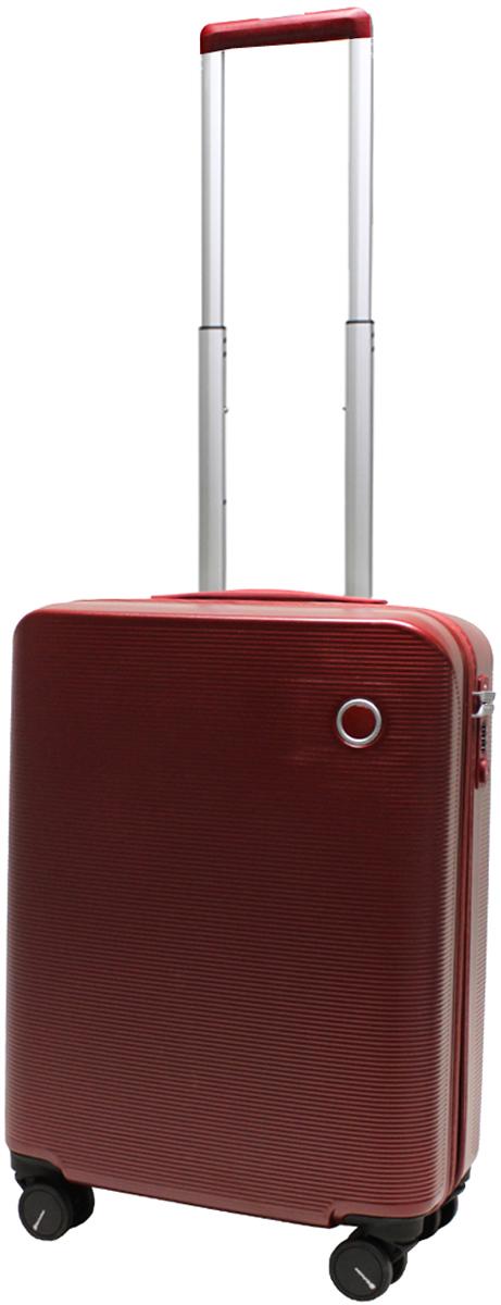 Чемодан-тележка Echolac 108, на колесах, цвет: бордо, 38 л. 108-20PC чемодан samsonite uplite цвет красный 38 5 л 99d 00005