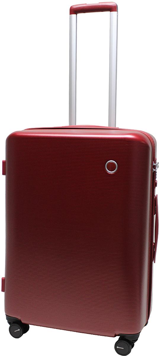 Чемодан-тележка Echolac 108, на колесах, цвет: бордо, 65 л. 108-24PC